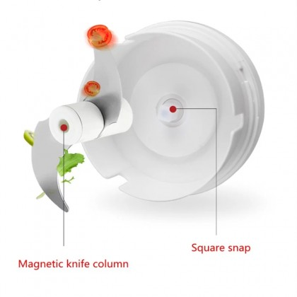 iDECO Manual Mini Food Garlic Chopper Hand Pull Blender Processor Vegetable Mincer Crusher Grinder Tools Pengisar Bawang Putih