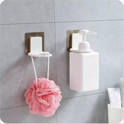 iDECO 1PCS Wall Mounted Shampoo Hook Hand Soap Bathroom Shower Gel Bottle Self Adhesive Sticker Holder Dispenser Storage