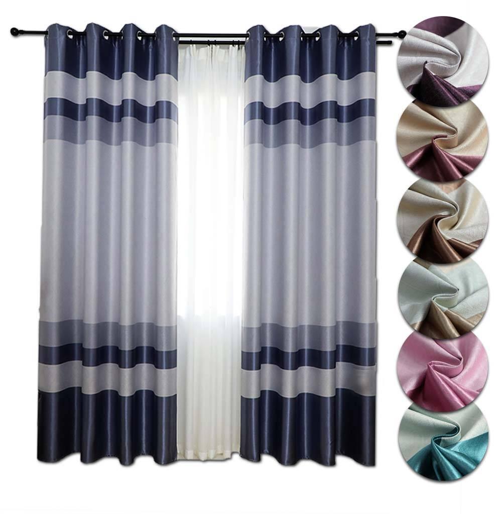 Ideco 1pcs Ring Eyelet Curtain Sun Insulation Langsir Thick Window Blackout 70 Shading Uv Protection