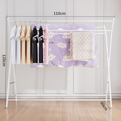 iDECO Foldable Mobility Large Support Clothes Hanger Clothing Garment Drying Rack