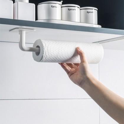 iDECO Multipurpose Hook Kitchen Towel Hanger Rack Bar Cabinet Cling Film Rag Hanging Holder (NO DRILLING NEEDED)