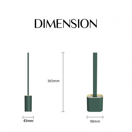 iDECO Silicone Toilet Brush Toilet Cleaning Wall-Mounted Floor-Standing Brush Set Soft Rubber
