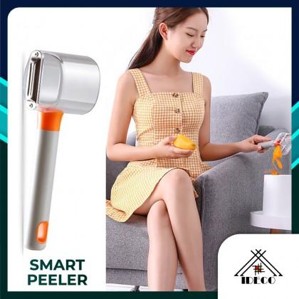 iDECO Fruit Vegetable Peeler Kitchen Multi-function Peeling Knife Smart Peeler With Peel Storage