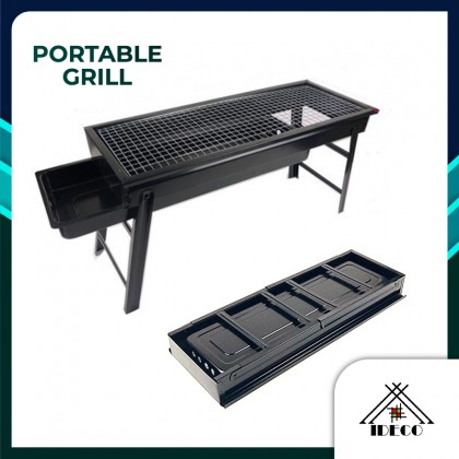 iDECO Portable BBQ Grill Outdoor Folding Barbecue Outdoor Charcoal BBQ Grill Camping Picnic Charcoal Grill Stand
