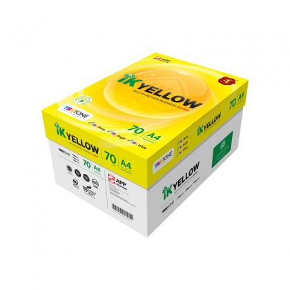 IK Yellow 70gsm A4 Paper (450 Sheets x 10 Ream)