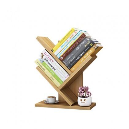 iDECO 3 Layers Tree Shape Table Top Bookshelf Bookcase Storage Rack Modern Style