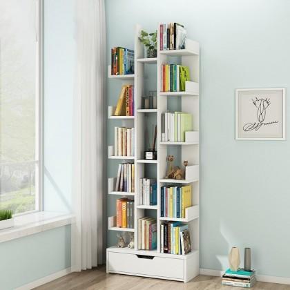 iDECO 17 Layers Bookcase Utility Shelf Bookshelf File Rack Storage Rack (WALNUT)