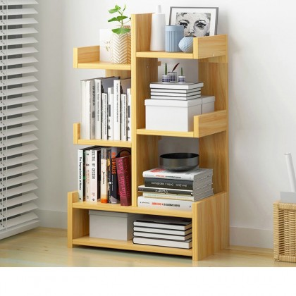 iDECO 6 Layers Bookcase Utility Shelf Bookshelf File Rack Storage Rack
