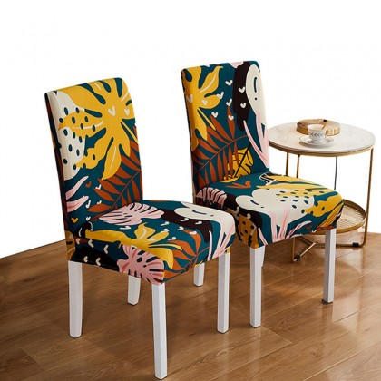 iDECO Magic Nice Floral Printing Stretch Elastic Spandex Dining Chair Cover Banquet Sarung Kerusi