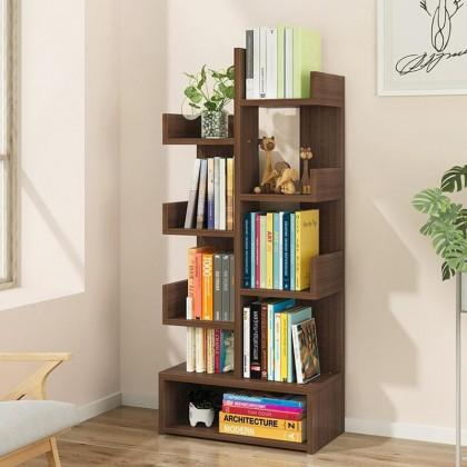 iDECO 9 Layers Bookcase Utility Shelf Bookshelf File Rack Storage Rack Rak Buku Almari Buku Kabinet Bookshelf (Wood)