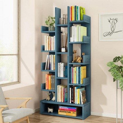 iDECO 15 Layers Bookcase Utility Shelf Bookshelf File Rack Storage Rack