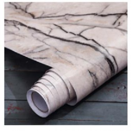 (60cm x 5 meter)iDECO DIY Marble Wallpaper Cabinet Wallpaper Furniture Film