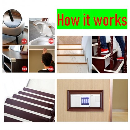 (3cm x 5m) / (6cm x 10meter) iDECO Wainscoting Self Adhesive Wall Skirting DIY Frame Dinding Bingkai Foam Border Line