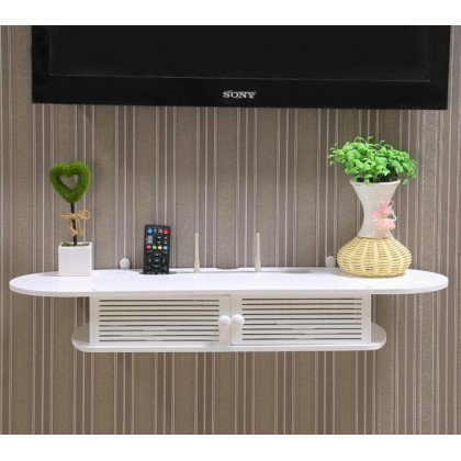 iDeco DVD Player Rack TV Rack WPC Living Room Bedroom Kitchen Bathroom Toilet Wall Storage Organizer Self Rack