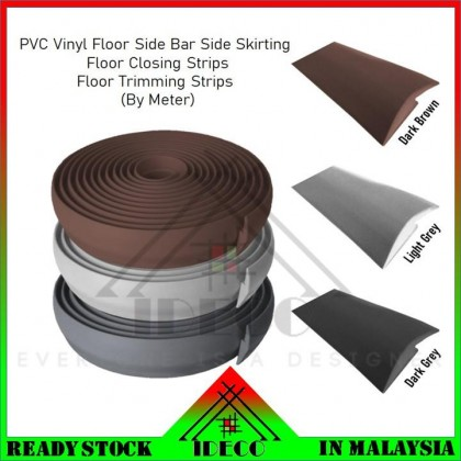 iDECO PVC Vinyl Floor Skirting, Floor Closing Strips, Floor Trimming Strips, Floor Shut Strips, Side Bar Side Skirting (Meter)