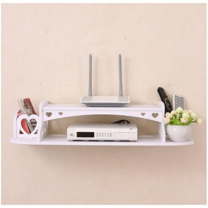 iDECO WPC Zakka Living Room Bedroom Wall Storage Organizer TV DVD Player Astro Player Wall Rack