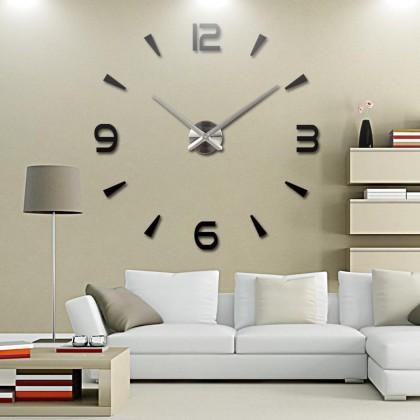 iDECO DIY 3D Living Room Large Quartz Acrylic Mirror Wall Clock ID0737