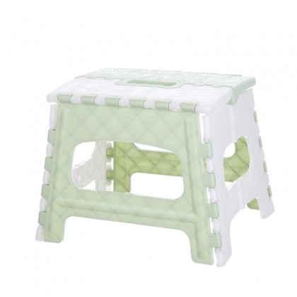 IDECO Little Cute Child Plastic Folding Step Stool Multi Purpose Portable stool Home small seat Travel Foldable stool