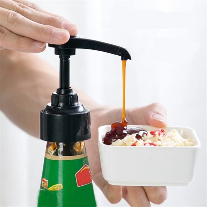 IDECO Pressure Pump Head Oil For Chili Tomato Sauce Bottle Mouth Can Squeezer Household Pump Push-type