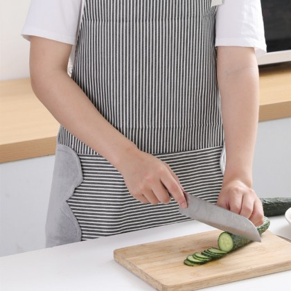 IDECO Kitchen Apron Oxford Cloth Waterproof Oilproof Apron Creative Gift for Wife Adjustable Hand Wipe Clean Protector