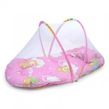 Foldable Easy Carry Baby Bed with Mosquito net